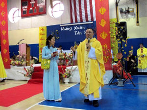 Vietnamese Mass in our Gynmasium